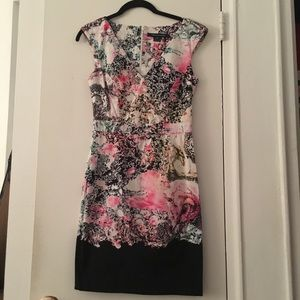 French connection floral dress size 2